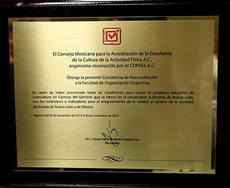 Extra, el certificado de reacreditación